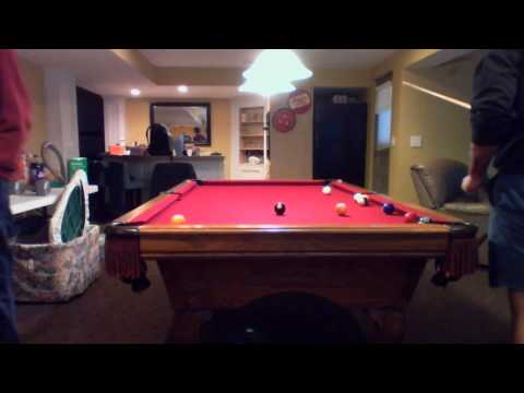 Playing an epic game of pool table youtube for Epic pool show
