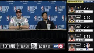 Brook Lopez & Malcolm Brogdon Press Conference | Eastern Conference Finals Game 5