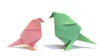 Origami Bird - Easy Origami Tutorial - How to make an easy origami bird