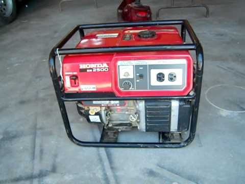 Em 2500 honda generator youtube for Honda vs yamaha generator
