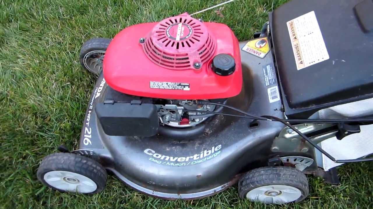 Honda Harmony II HRT 216 SDA Broken Craigslist Find Lawn Mower Repair - Part I - March 26, 2013 ...