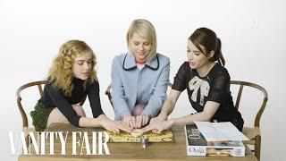 Emma Roberts, Kiernan Shipka & Lucy Boynton Try To Summon Spirits   Vanity Fair
