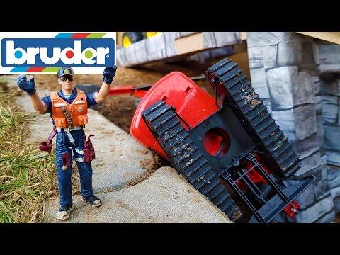 BRUDER Excavators crash video for kids!
