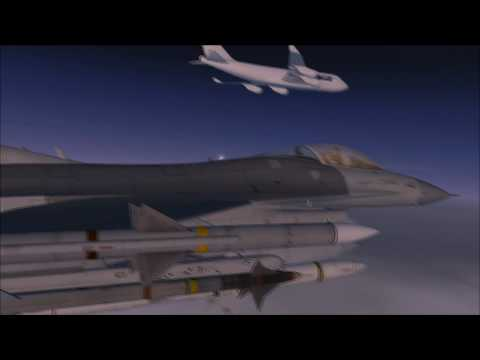 Aerosoft F16 Fighting Falcon X - Escort Mission in FSX