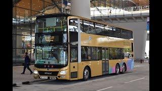港珠澳大橋穿梭巴士 猛獅A95 ND363F雙層巴士(往香港)全程行車片段