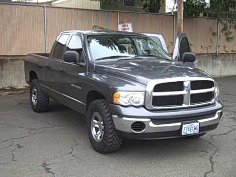 2004 dodge ram 1500 4 7l magnum v8 4x4 automatic quad cab youtube. Black Bedroom Furniture Sets. Home Design Ideas