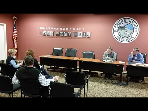 Pickens County Commissioners Work Session - February 4, 2016