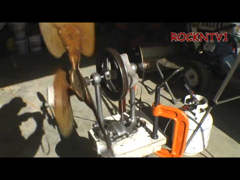 Stirling Engine Big fan test