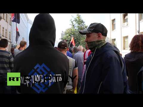 Ukraine: Right Sector stand ground in Kiev against autonomy law