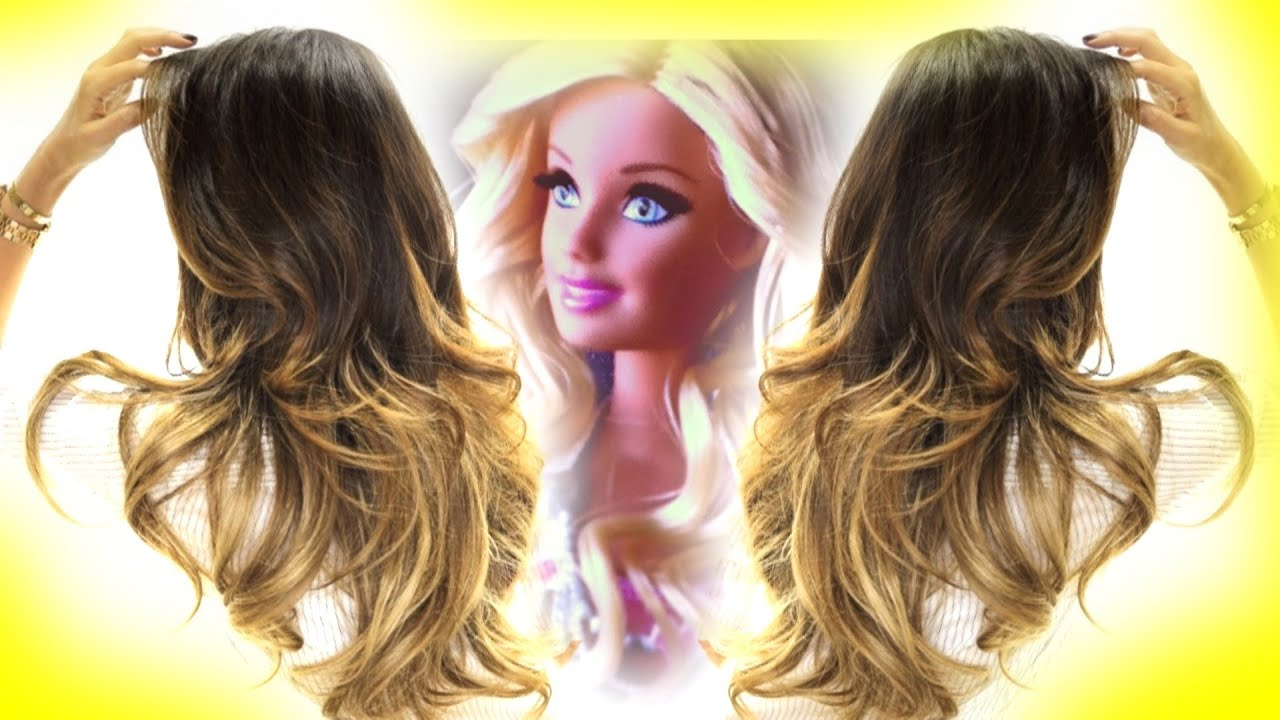 BARBIE CURLS How to Curl Hard-to-Curl Hair Hairstyles - YouTube ...
