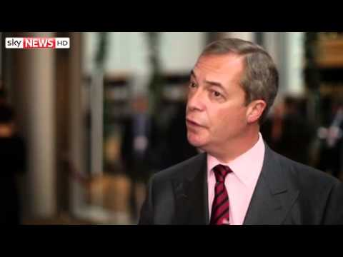Farage Welcomes Pope's EU Comments