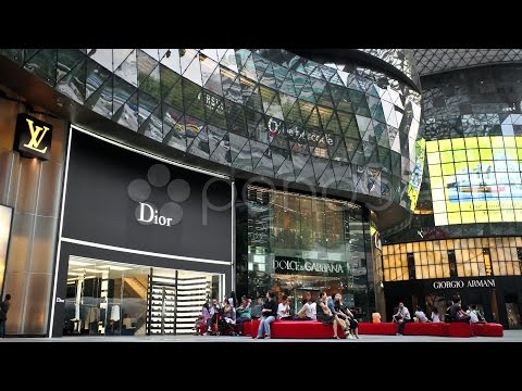 Luxury Brands At Ion Shopping Mall, Singapore.. Stock Footage