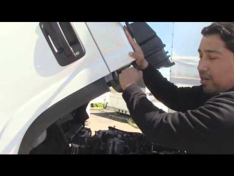 Tilting the Isuzu Truck Cab