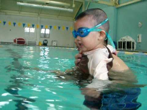 16 Month Baby Swimming Youtube