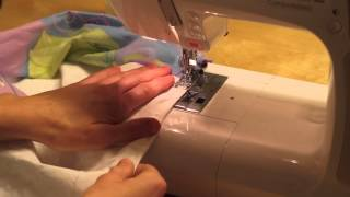 Sy med elastisk undertråd - Sew with elastic bobbin thread / Janome MC5200