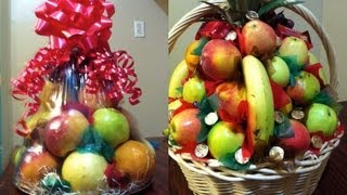 Como hacer canastas de fruta para regalo o para padrinos les mostramos 2 maneras diferentes