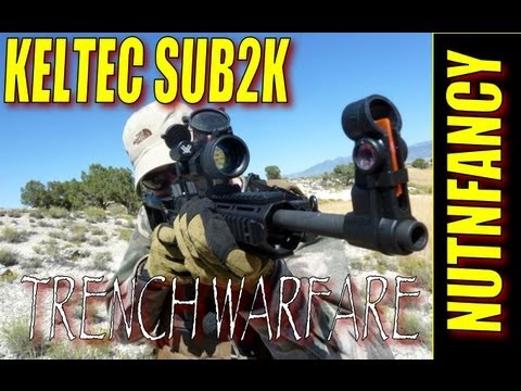 KelTec Sub-2000 testing: Trench Warfare Drill (raw footage of gun test)