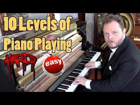 10 Levels of Piano Playing Vídeos de zueiras e brincadeiras: zuera, video clips, brincadeiras, pegadinhas, lançamentos, vídeos, sustos