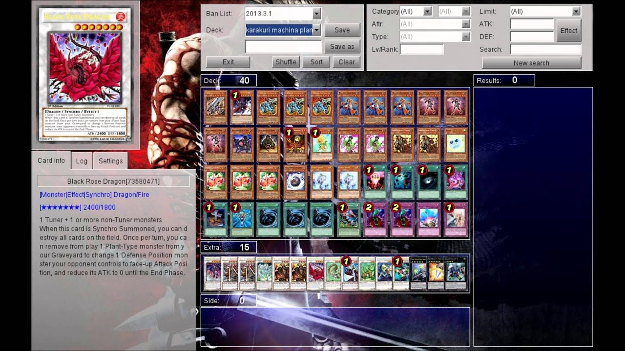 Karakuri Machina Plant Deck List 2012 Karakuri Machina Plant Deck