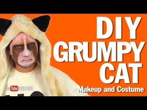 ▶ Diy Grumpy Cat Makeup And