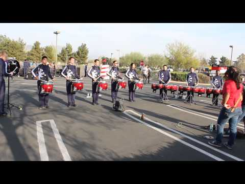 2013 - Clovis West HS Drumline - Warmups 1 - WGI WC Prelims