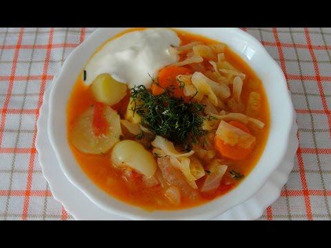 Легкий овощной суп - вкусный суп за 30 минут