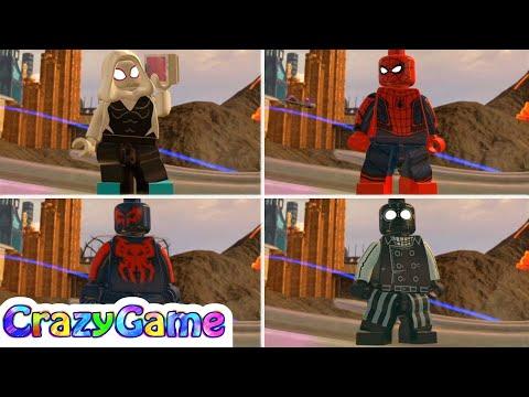 LEGO Marvel Super Heroes 2 All Spider-Man (Old West Open World Free Roam)