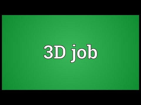 Header of 3D job