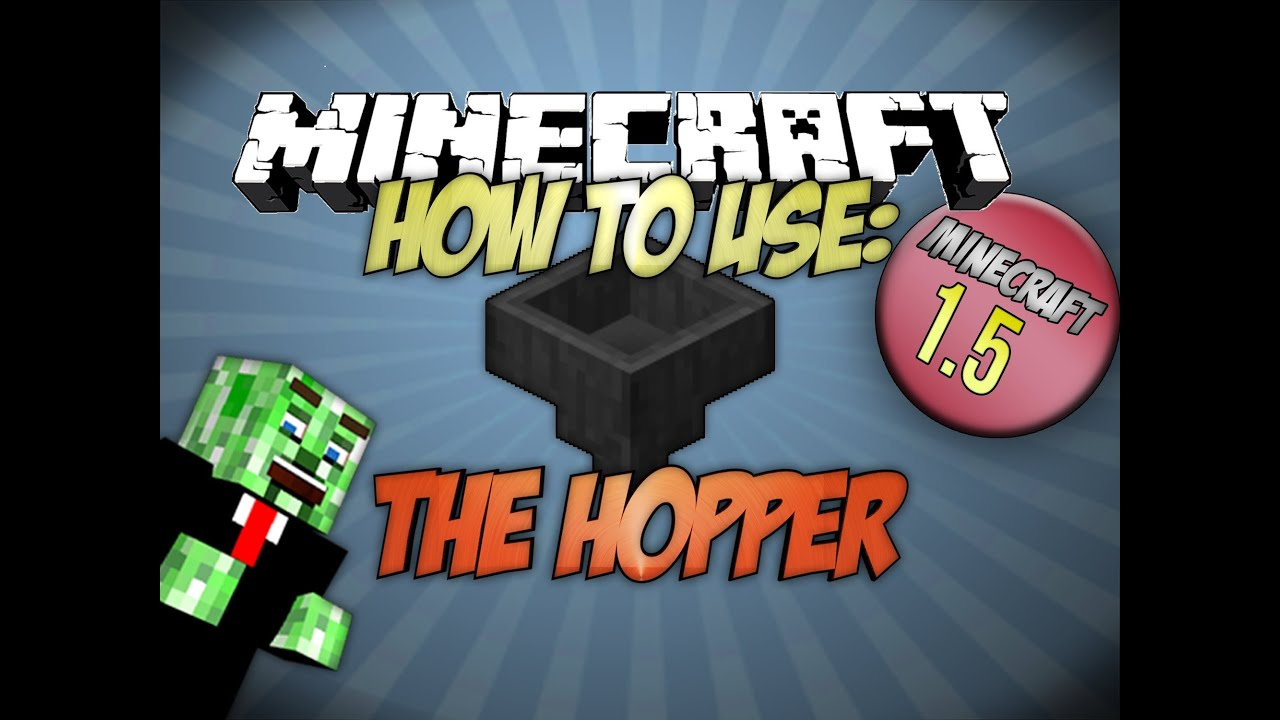 how to use hoppers in minecraft 1.7.10