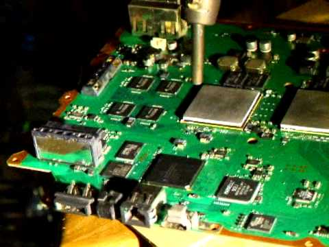Repairing a PS3 mainboard with no-clean flux and a heat gun