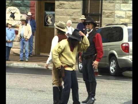 USA 2004/15 Gunfight in front of Hotel Irma. Cody. Wyoming