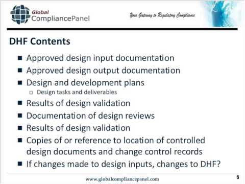 dhf, dmr, dhr and tf regulatory documents explained youtube