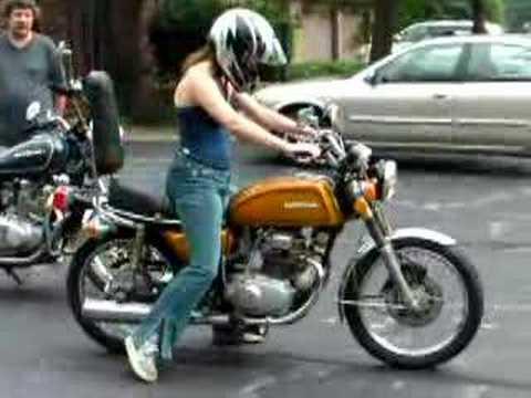 1975 Honda Cb200t Youtube