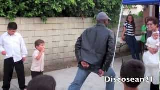 Battle at a baby shower,Michael Jackson dance off.