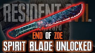 Resident Evil 7 DLC End of Zoe | SPIRIT BLADE WEAPON UNLOCK — RE7 Extreme Challenges Gameplay