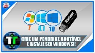 Como criar um Pendrive Bootável para instalação do Windows 7, 8.1 e 10