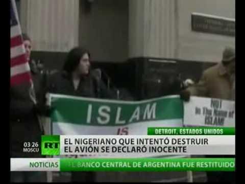 El terrorista nigeriano, Umar Farouk Abdulmutallab, se declaró inocente