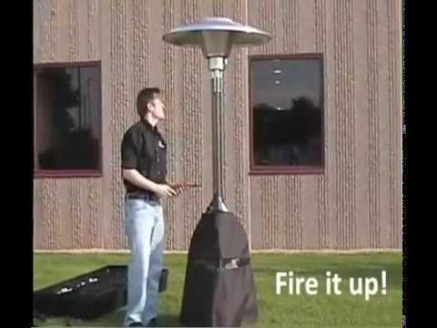 Radiant propane breakdown patio heater rental Iowa City, Cedar Rapids, IA