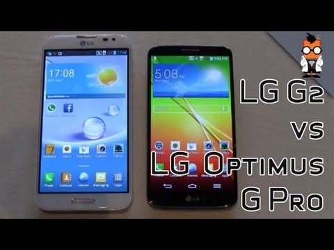 Lg g2 vs lg optimus g pro quick comparison