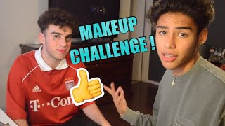 IM BACK !! MAKEUP CHALLENGE WITH ANDREW AND ROBERT !!