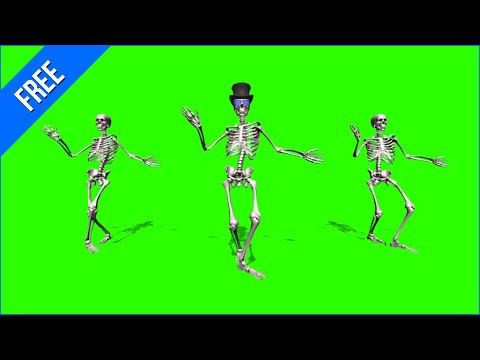 Caveiras Dançando #2 - Skeletons Dancing #2 / Green Screen - Chroma Key thumbnail