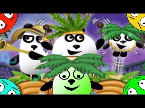 🐾 Четыре панды #6! Перестрелки в Бразилии! Мультик Игра. Детский мультфильм.