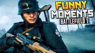 Battlefield 1 Funny Moments - Surfing Horse, Explosive Traps, Flying Planes! (BF1)