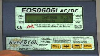 How to store charge a LiPo pack using the Hyperion EOS0606i AC/DC Charger