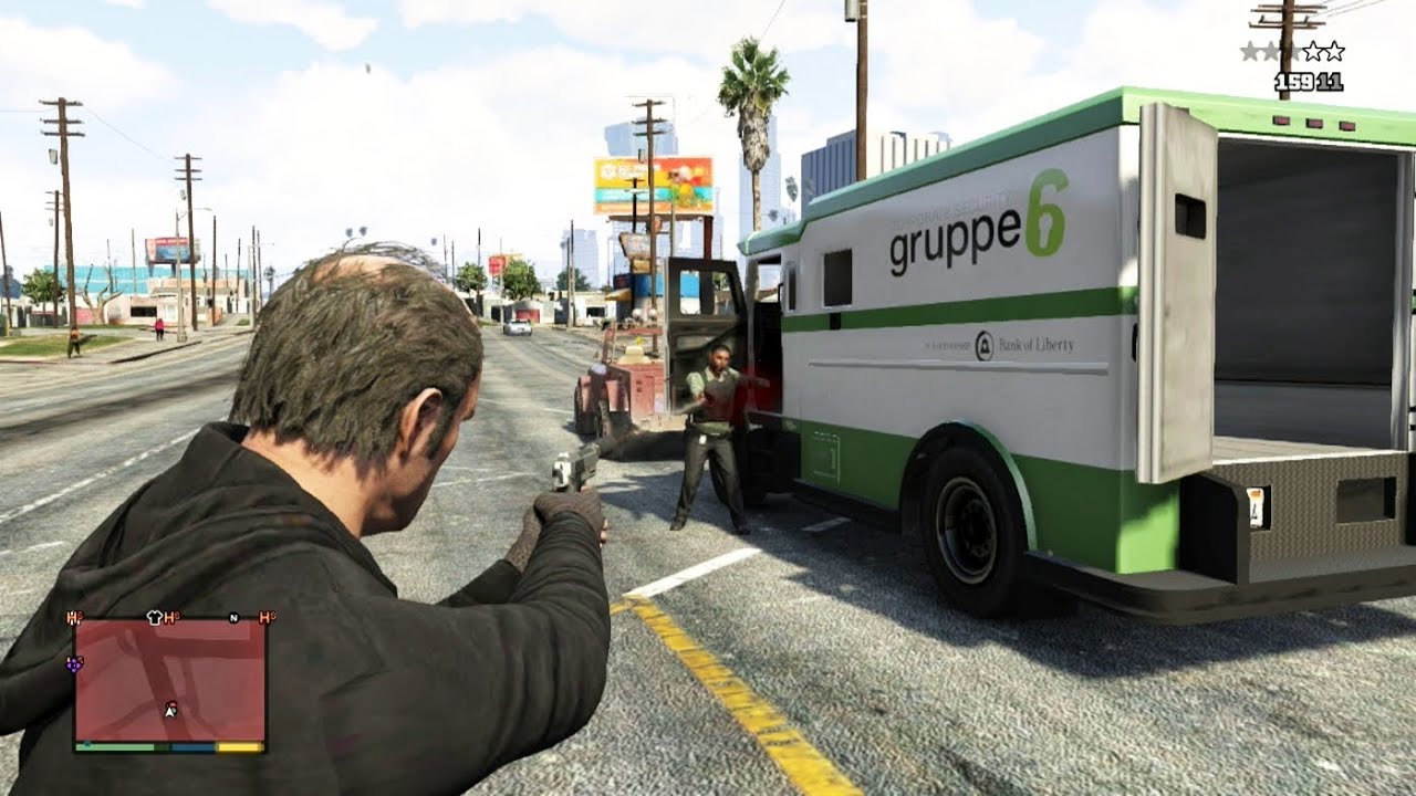 Gta 5 How To Rob An Armored Car In Gta V Youtube