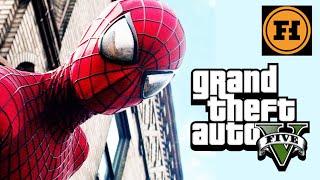 SPIDERMAN in GTA 5! Mod Gameplay!