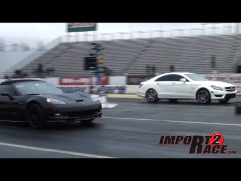 Benz V8 BiTurbo vs  Corvette & BMW M3 Rolling Start