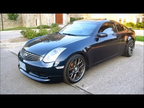 Vossen CV2 Infiniti G35 Coupe Walk Around & TopSpeed Pro1 Exhaust Clips