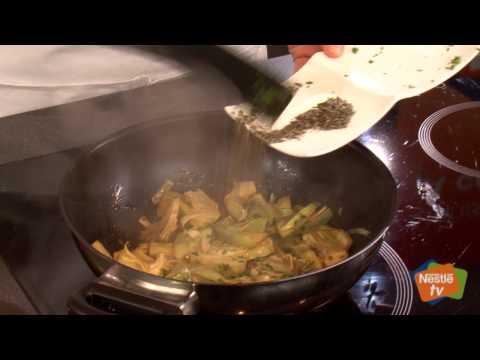 Tagliatelle con alcachofas - Recetas rápidas Nestlé
