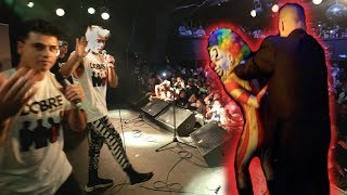 A CLOWN ATTACKED US ON STAGE!